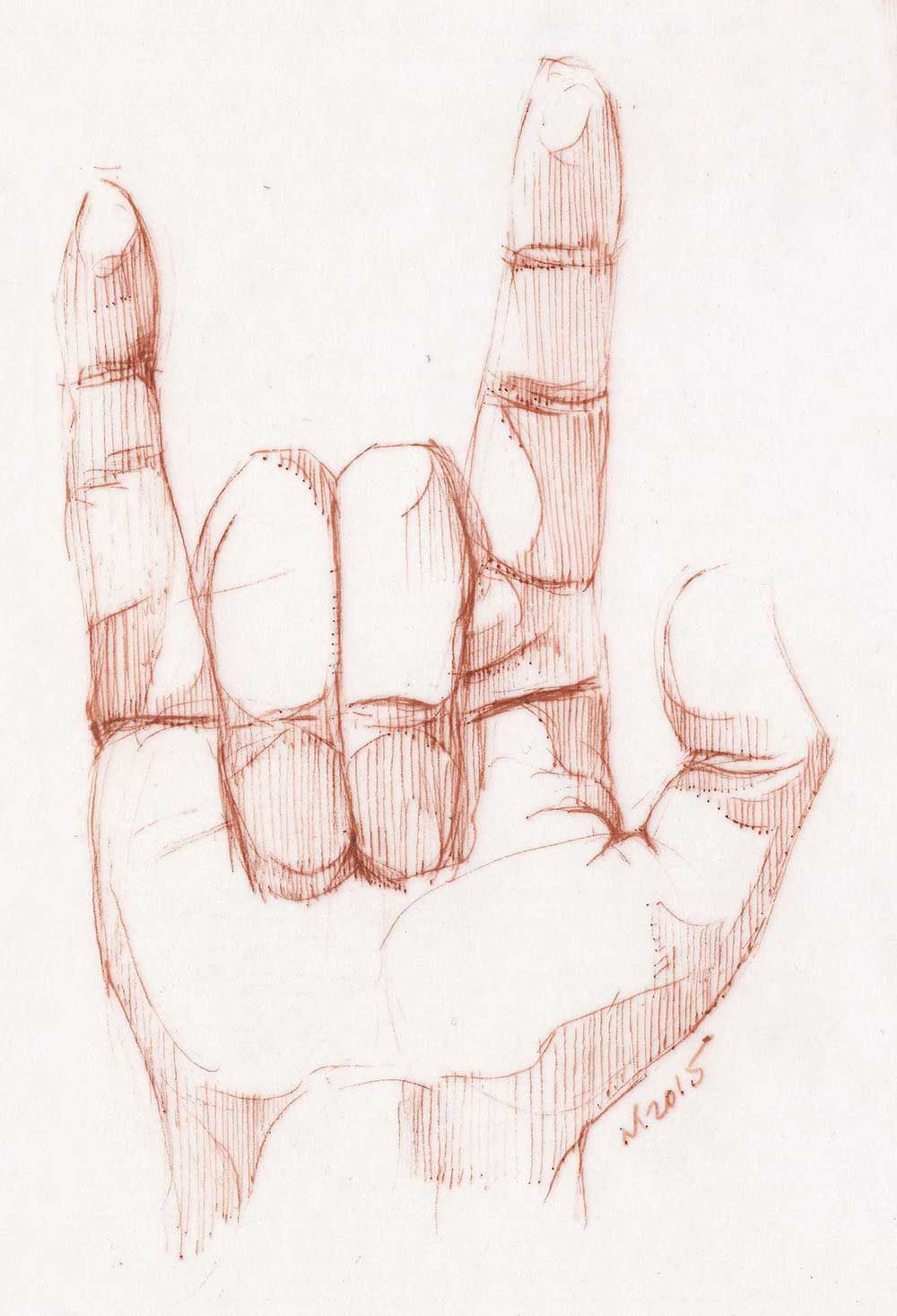 1000x1467 Sketching Rules. ) Drawing Of My Right Hand Since I'M Left Handed