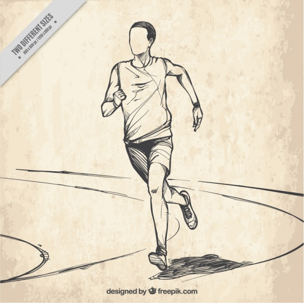 626x625 Background Of Hand Drawn Runner Vector Free Download
