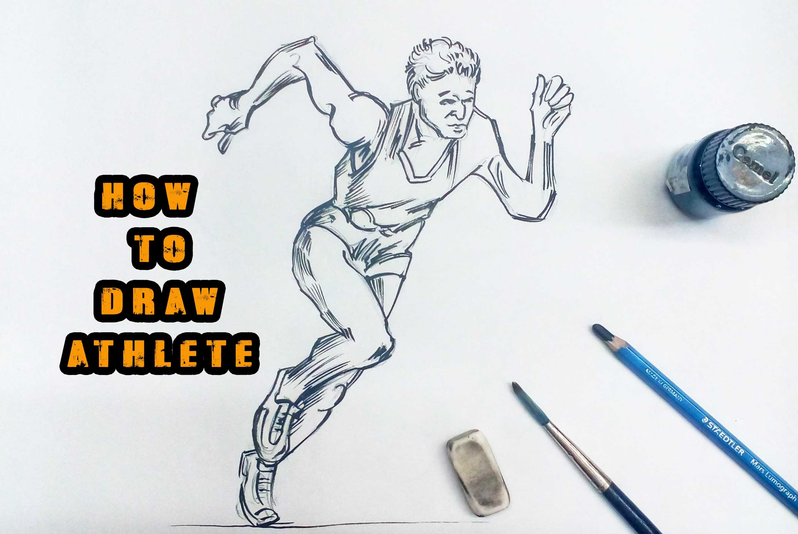 2688x1800 How To Draw Athlete Step By Step