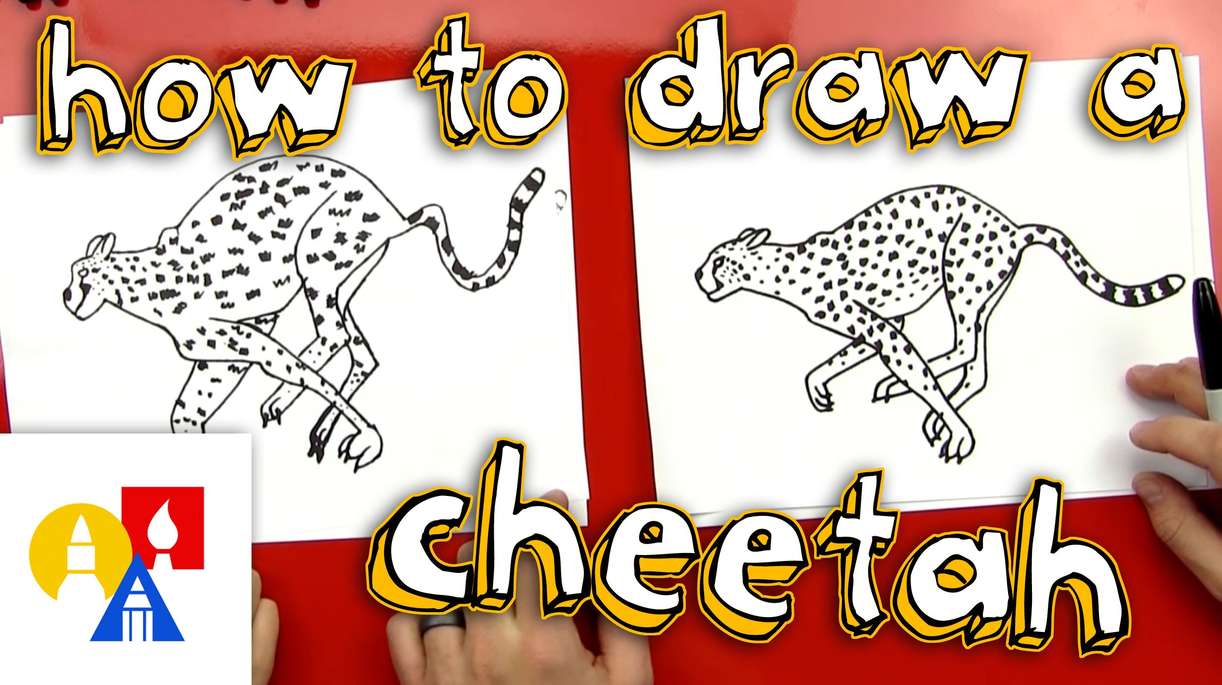 2463x1381 How To Draw A Cheetah