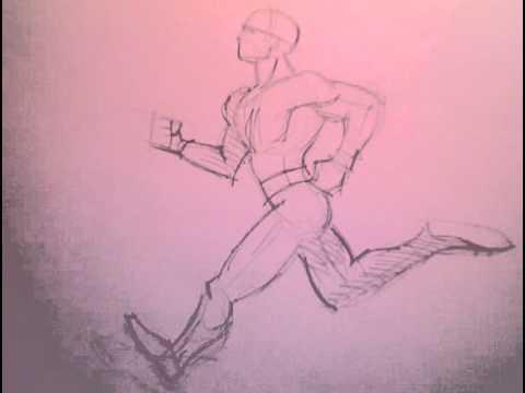 480x360 16 Drawing Running Man
