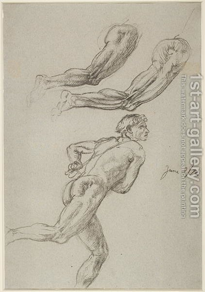 422x600 Life Drawing Of A Man Running Sir Edward John Poynter Reproduction