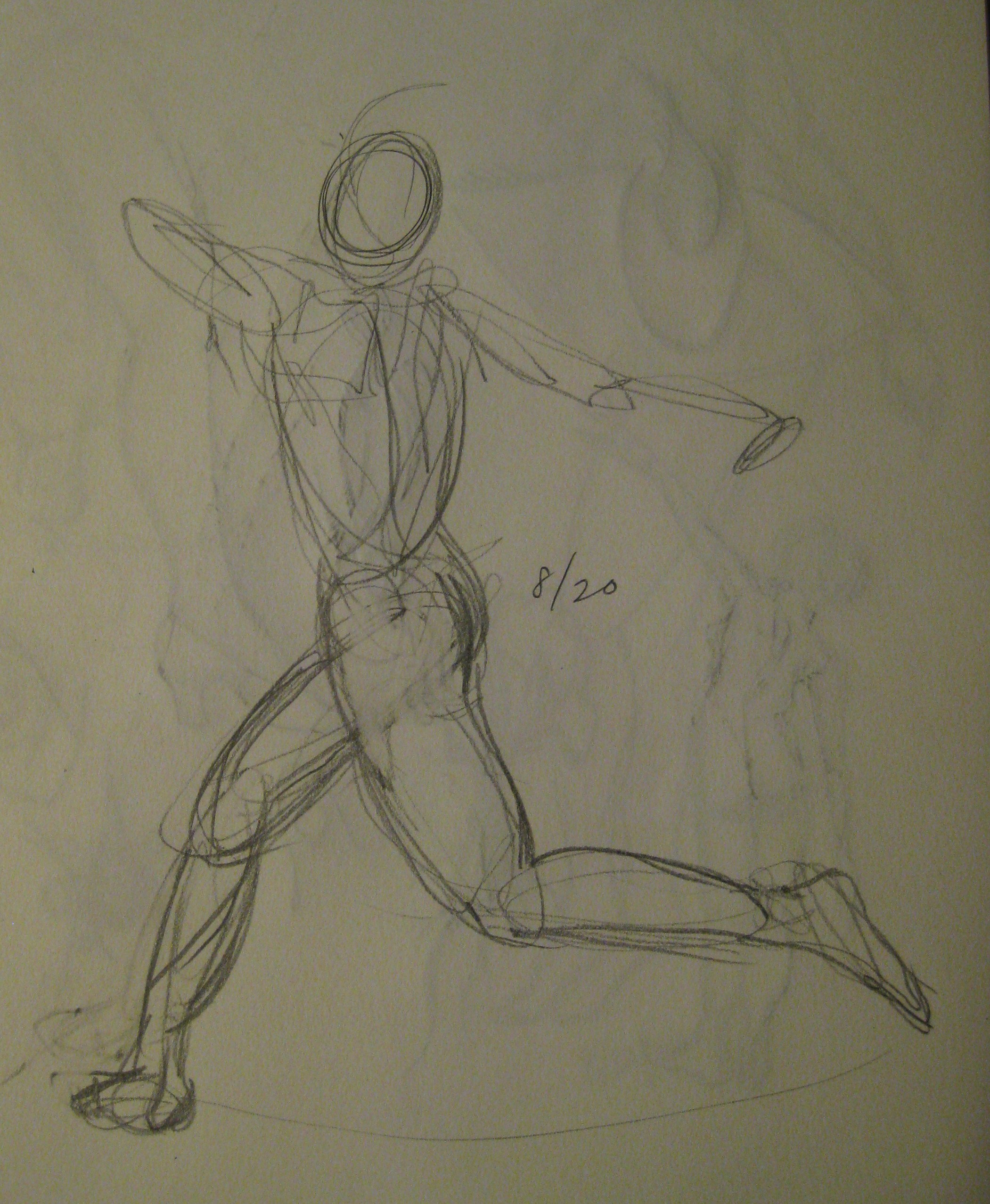 2101x2555 Number 200 (!) Gesture Drawing Running Figure Daily Dose