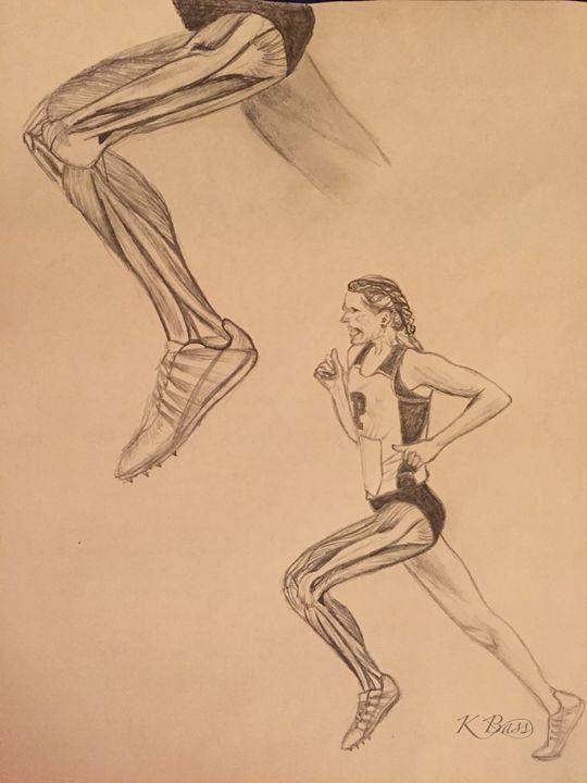 540x720 Running Leg Anatomy (Lateral View)