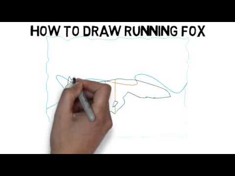 480x360 How To Draw Running Fox Quickly And Easily