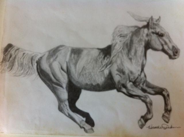 640x478 Running Horse Heather E Foundmyself