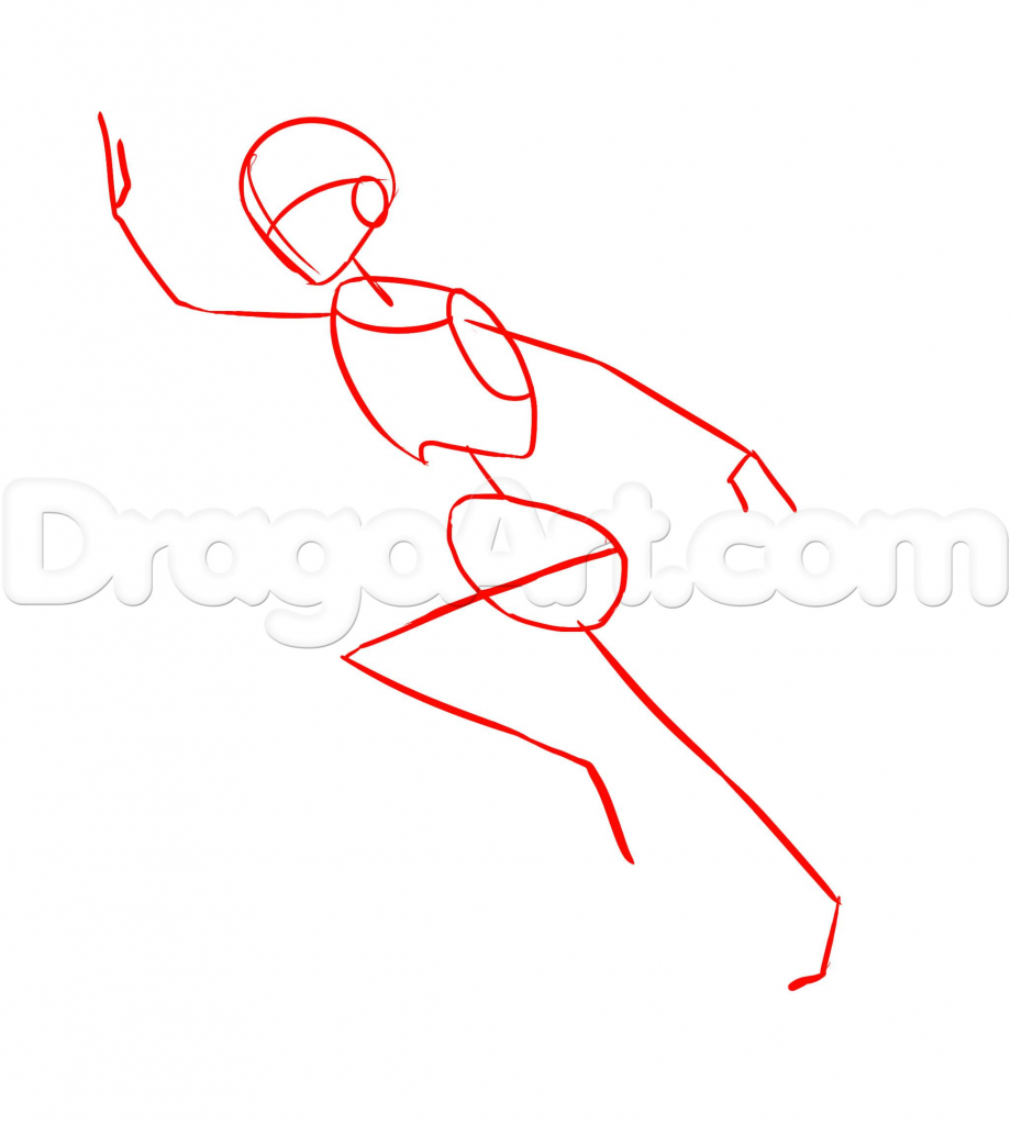 920x1024 Drawing Of A Person Running How To Draw A Running Person Step Step