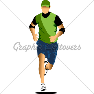 325x325 Running Man Icon. Gl Stock Images