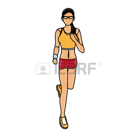 450x450 Sport Woman Running With Smart Glasses Wearable Technology Royalty