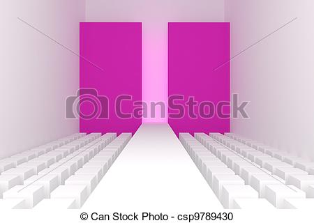 450x320 3d Empty Fashion Runway Stock Illustration