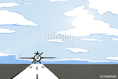 500x334 Airplane Runway Drawing Stock Photo And Royalty Free Images