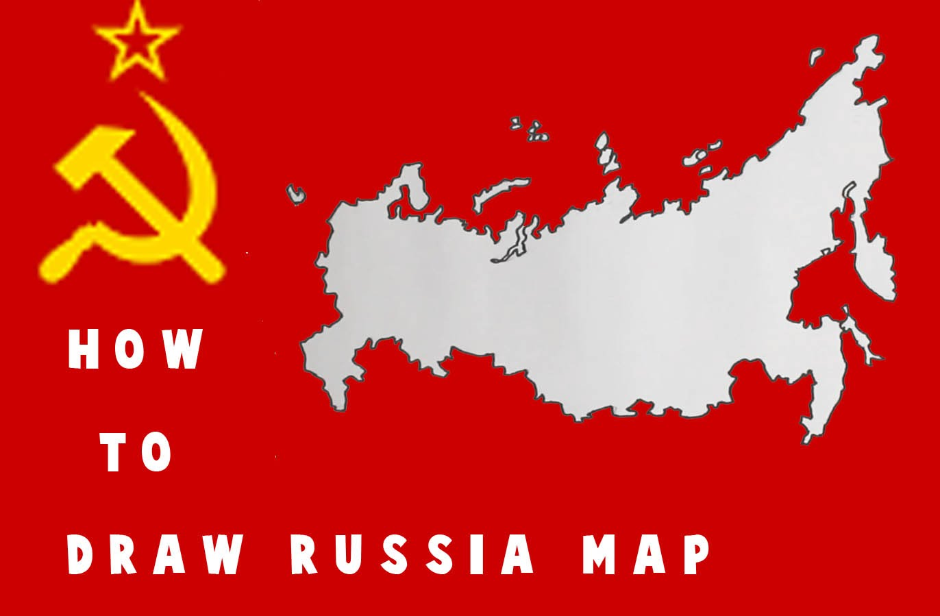 How to draw Russia