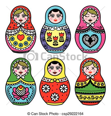 450x470 Matryoshka, Russian Doll Icons. Russian Folk Art