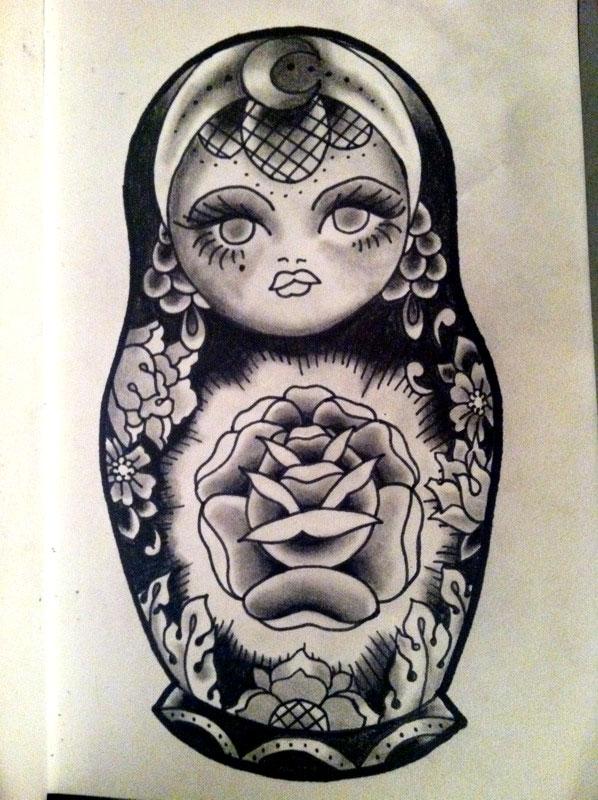 598x800 Russian Doll Tattoo And Dolls