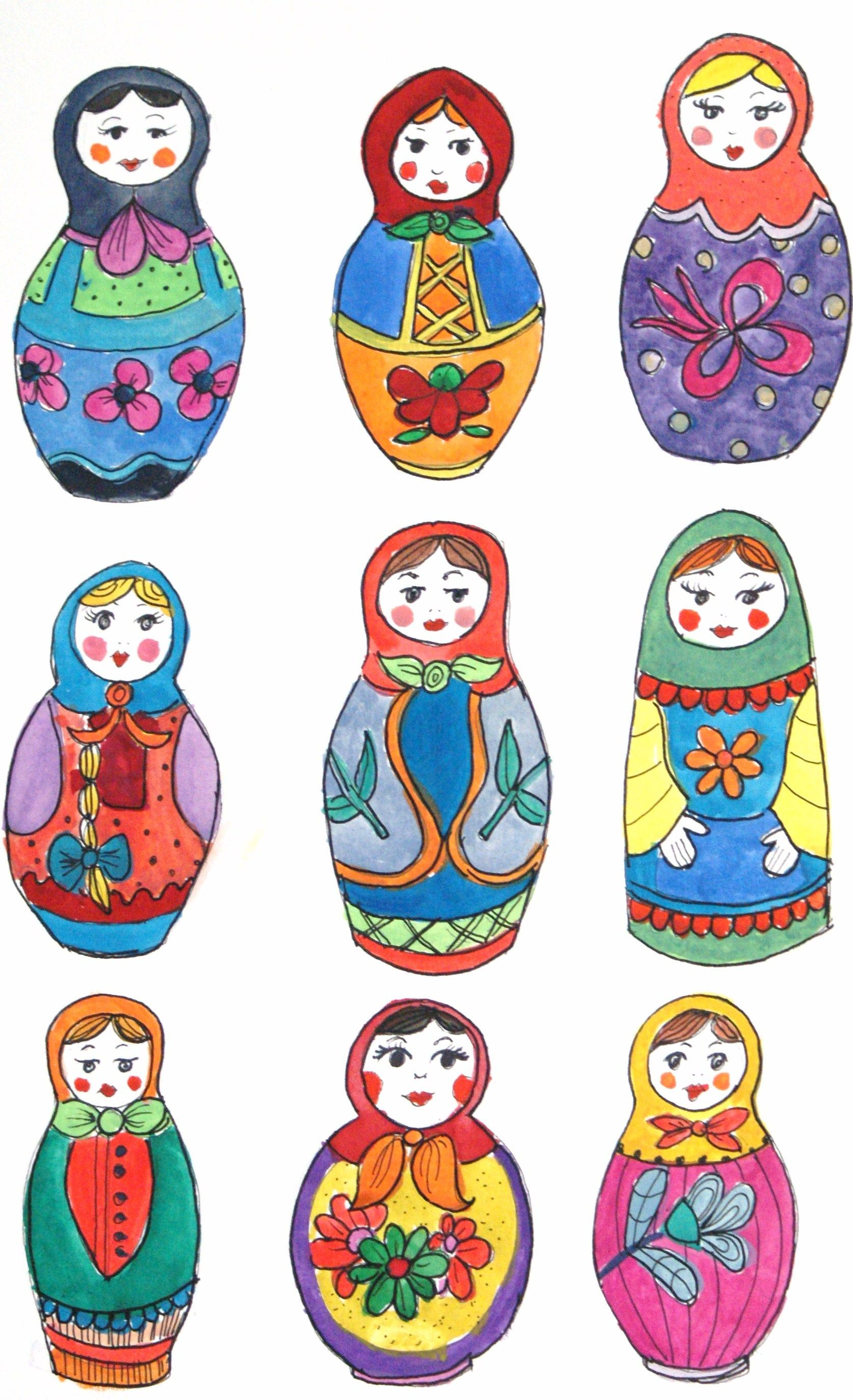 russian doll drawing at getdrawings com free for personal use