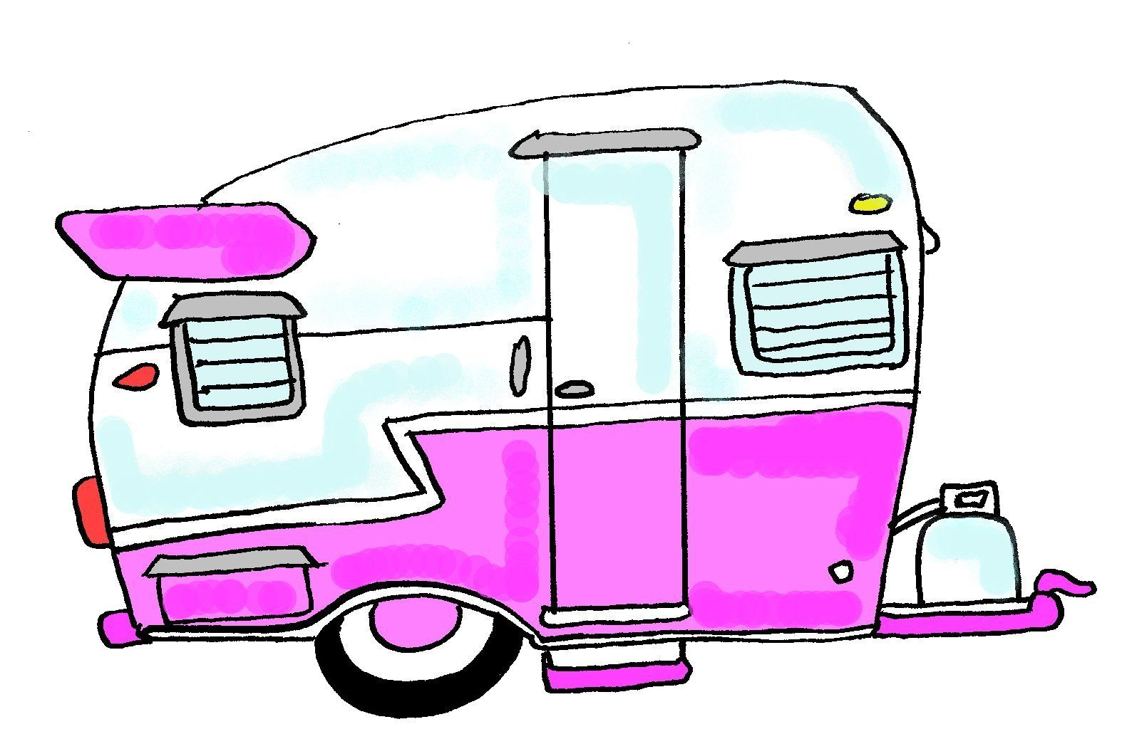 1581x1031 Camper Cartoon Drawing And Here A I Created Vintage