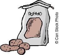 190x179 Cartoon Sack Of Potatoes Eps Vector