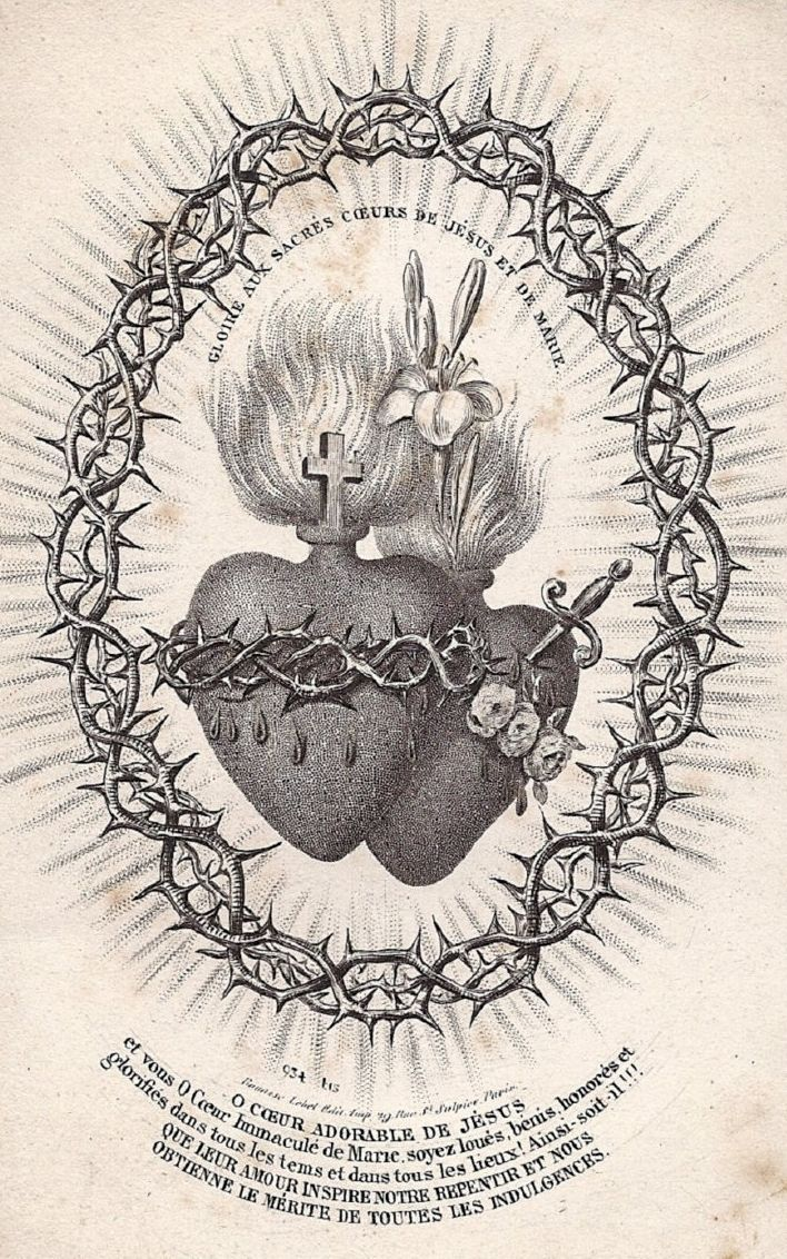 This is an image of Insane Sacred Heart Drawing