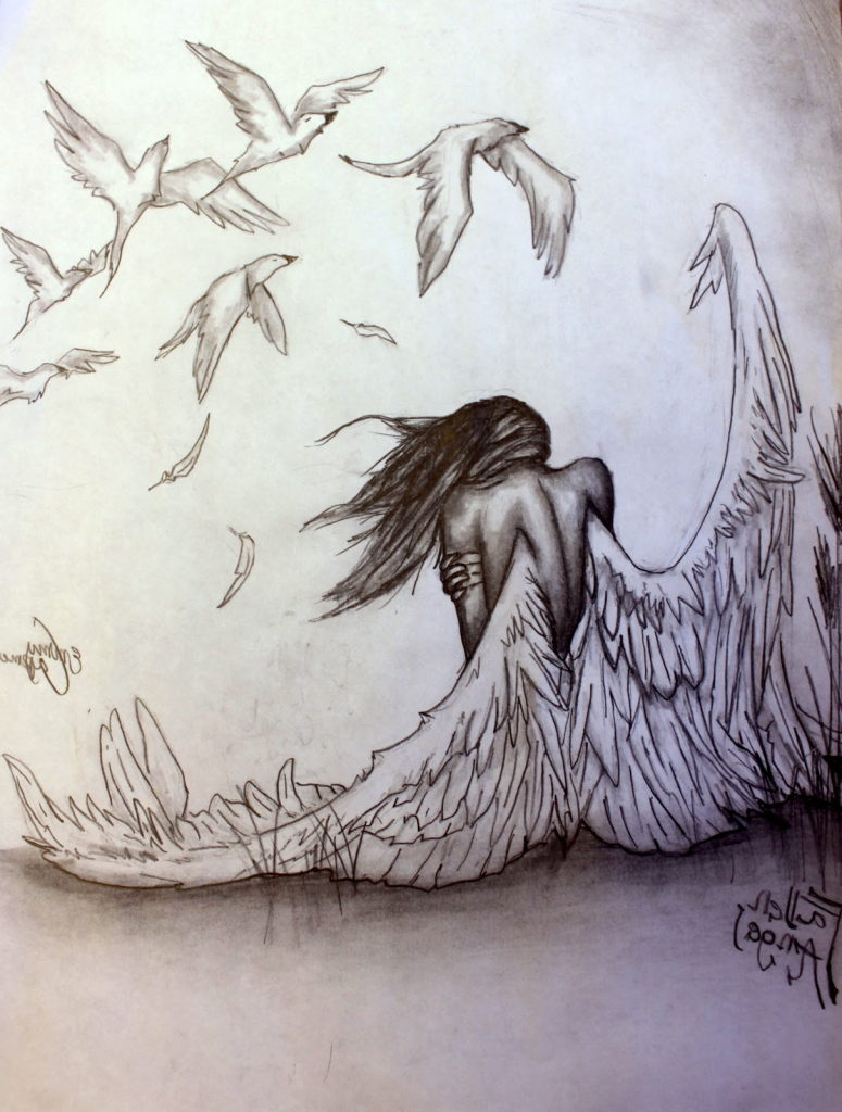 775x1024 Hd Angels Pencil Art Wallpapers Angels Drawings Pencil Angel Anime