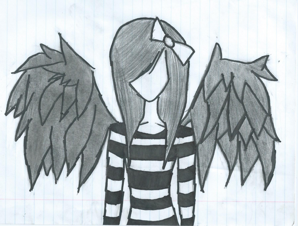 1024x777 How To Draw A Sad Angel Easy Drawing Pictures Of Angels Sad Angel