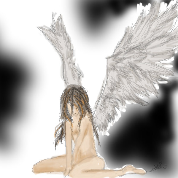 600x600 Sad Angel A Science Fiction Speedpaint Drawing By