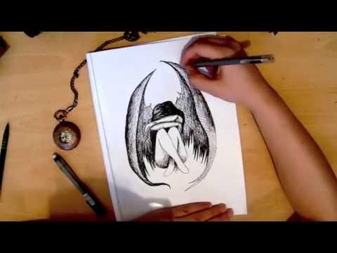 480x360 Sad Angel Speed Drawing