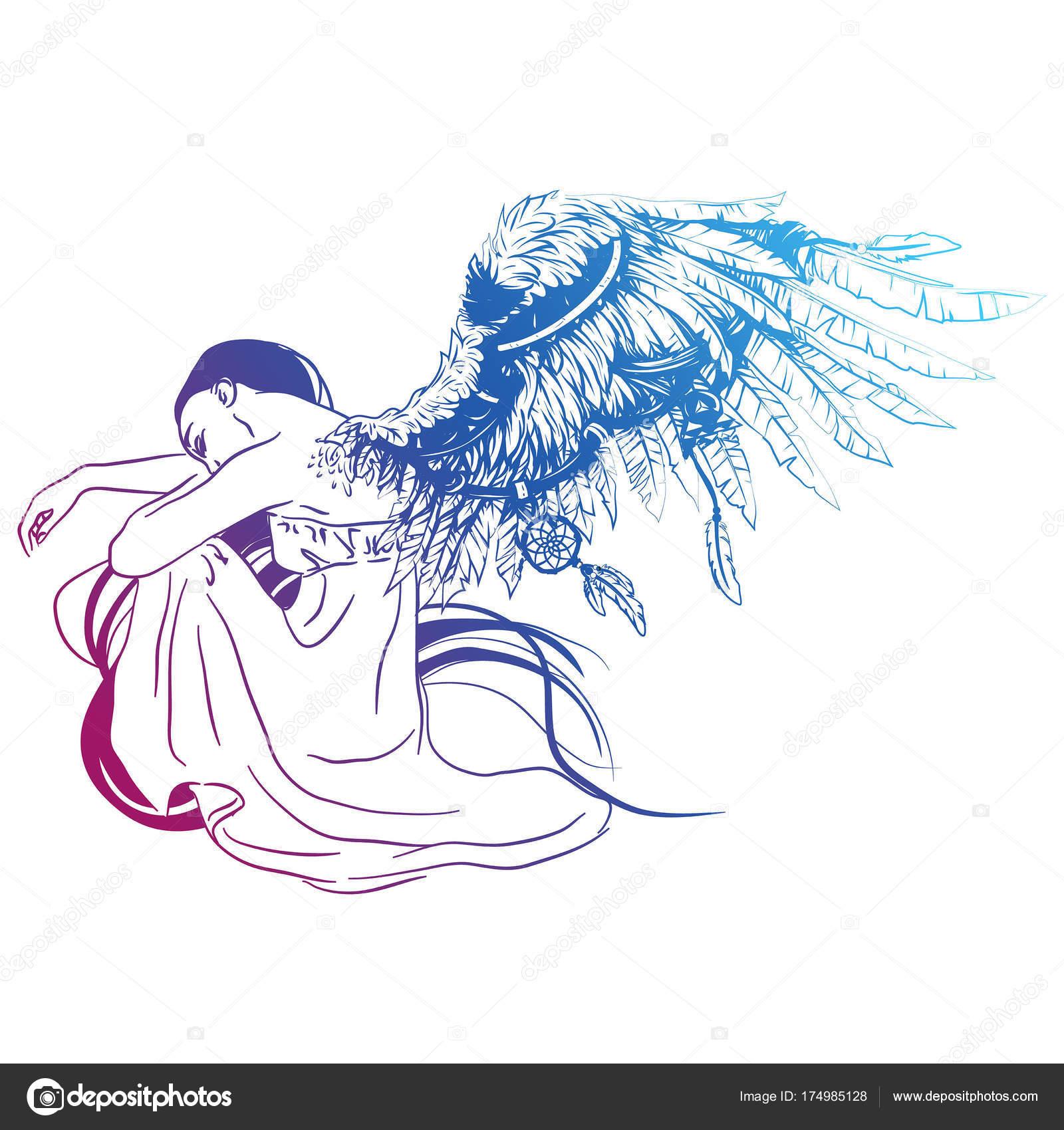 1600x1700 Vector Illustration Sad Angel Two Faded Stock Vector Samsonfm