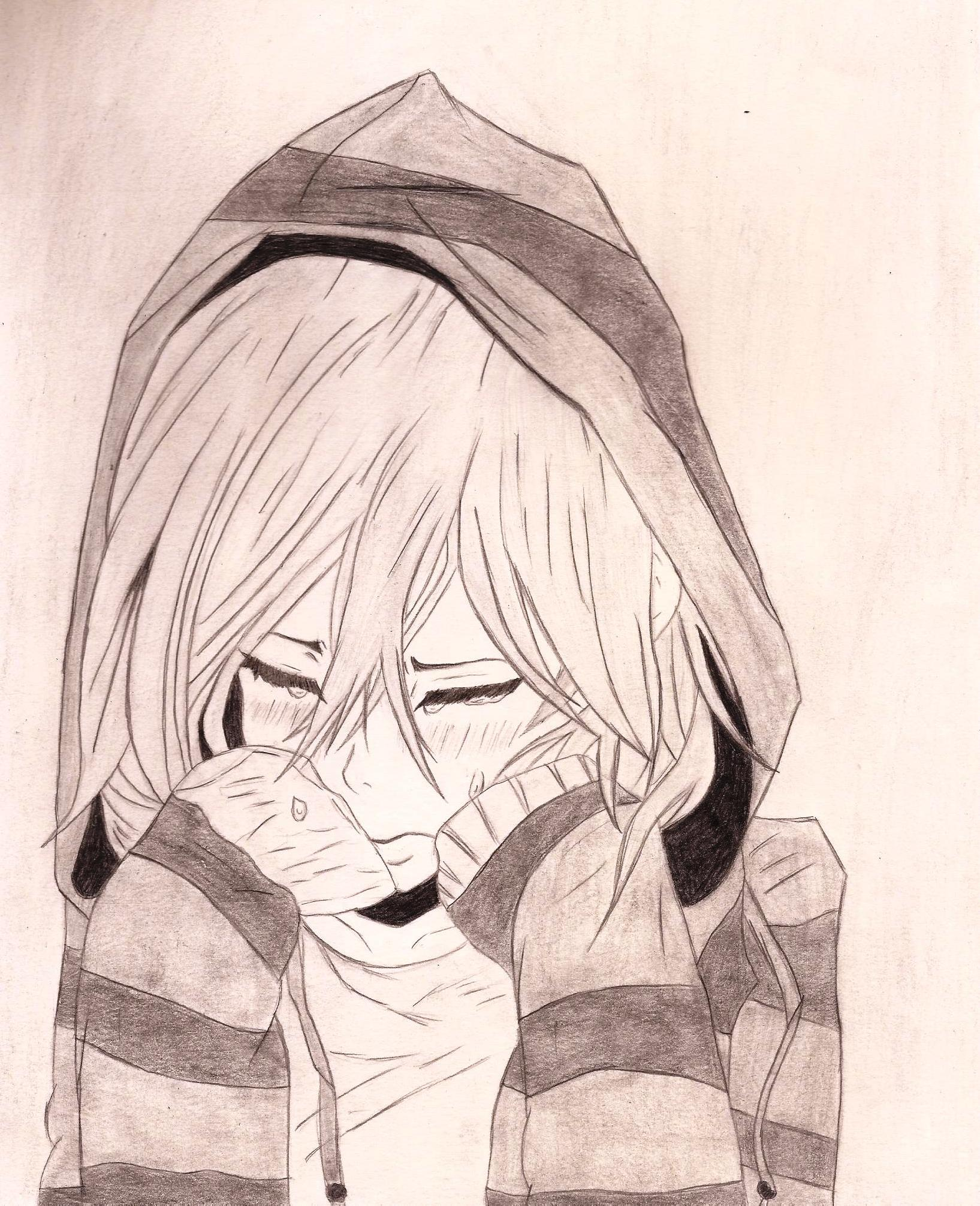 Sad Anime Drawing At GetDrawings