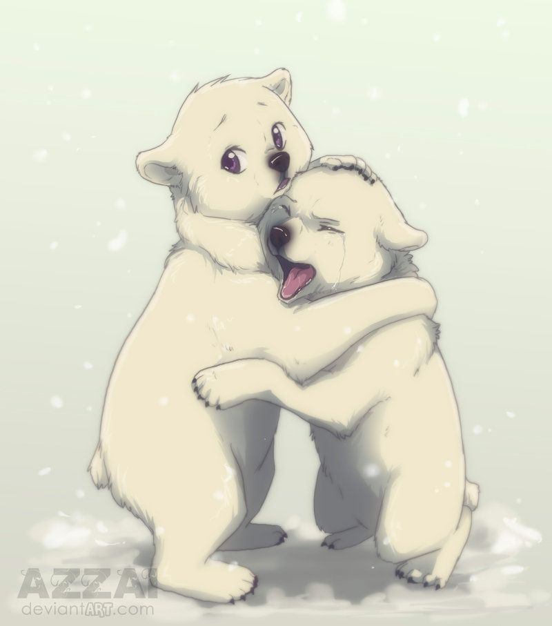800x907 Cute Polar Bear Drawing Cute Anime Polar Bear They Are Too Cute