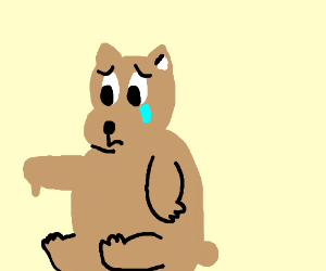 300x250 Sad Bear (Drawing By Thesilentninja)