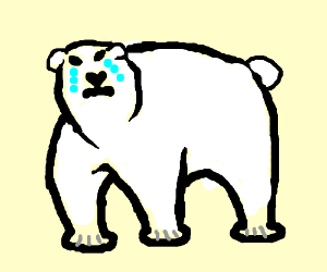 300x250 Sad Polar Bear Is Crying