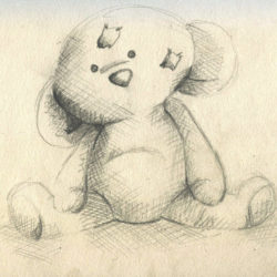 250x250 Teddy Bear Drawing, Pencil, Sketch, Colorful, Realistic Art Images