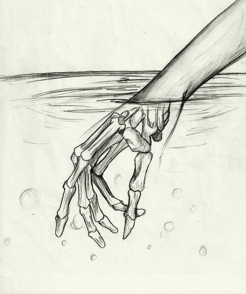 500x596 Art, Boy, Draw, Drawing, Dreams, Drowning, Girl, Grunge, Halloween