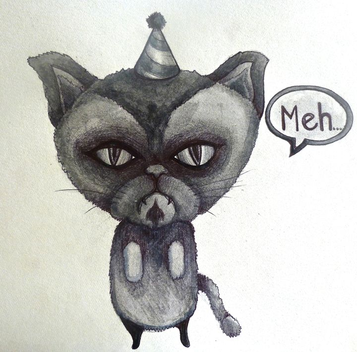 720x710 Grumpy Cat Party Poop Sad Cartoon