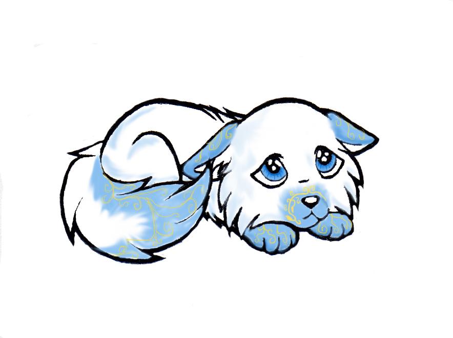 884x660 Chibi Wolf Chibi Dog Wolf Colored By ~ Drstitches Chibi