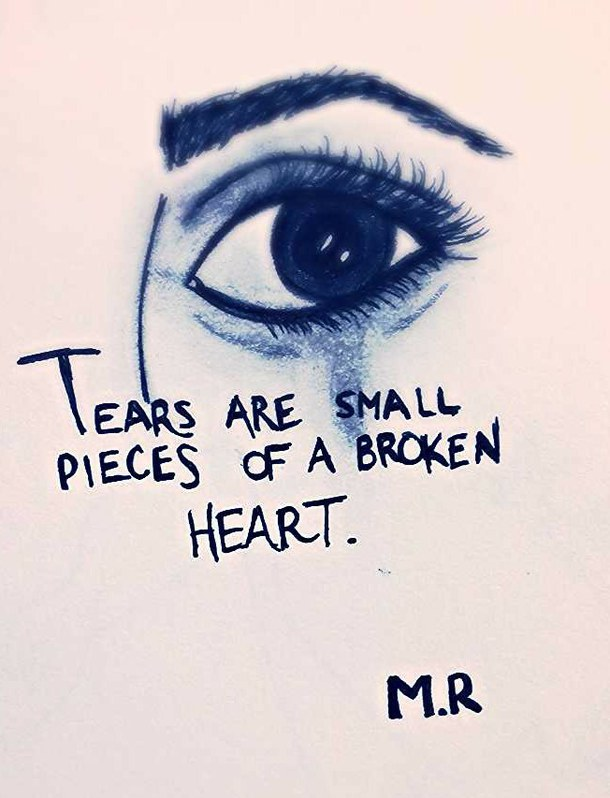 Sad Eyes With Tears Drawing At Getdrawings Com Free For Personal