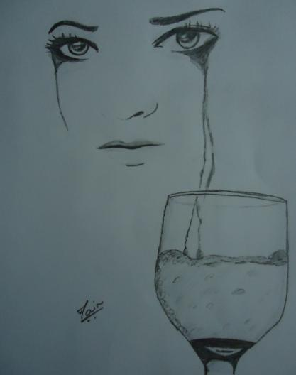 417x528 Pencil Sketches Amp Painting Pencil Sketch Of Sad Tears