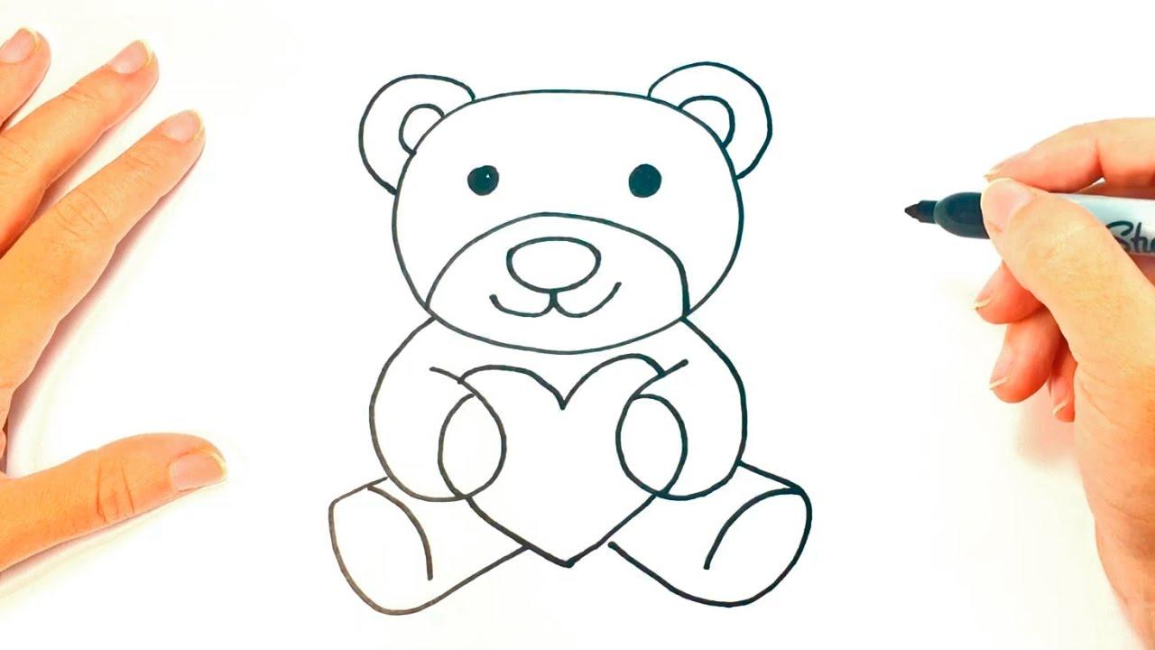 1280x720 Easy Teddy Bear Drawing Easy Bear Drawing Sad Teddy Bear Digital