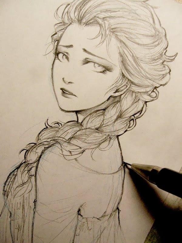 600x800 pictures pencil sketch sad woman