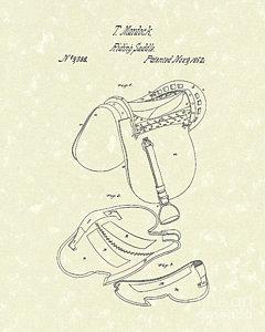 240x300 English Saddle Drawings Fine Art America