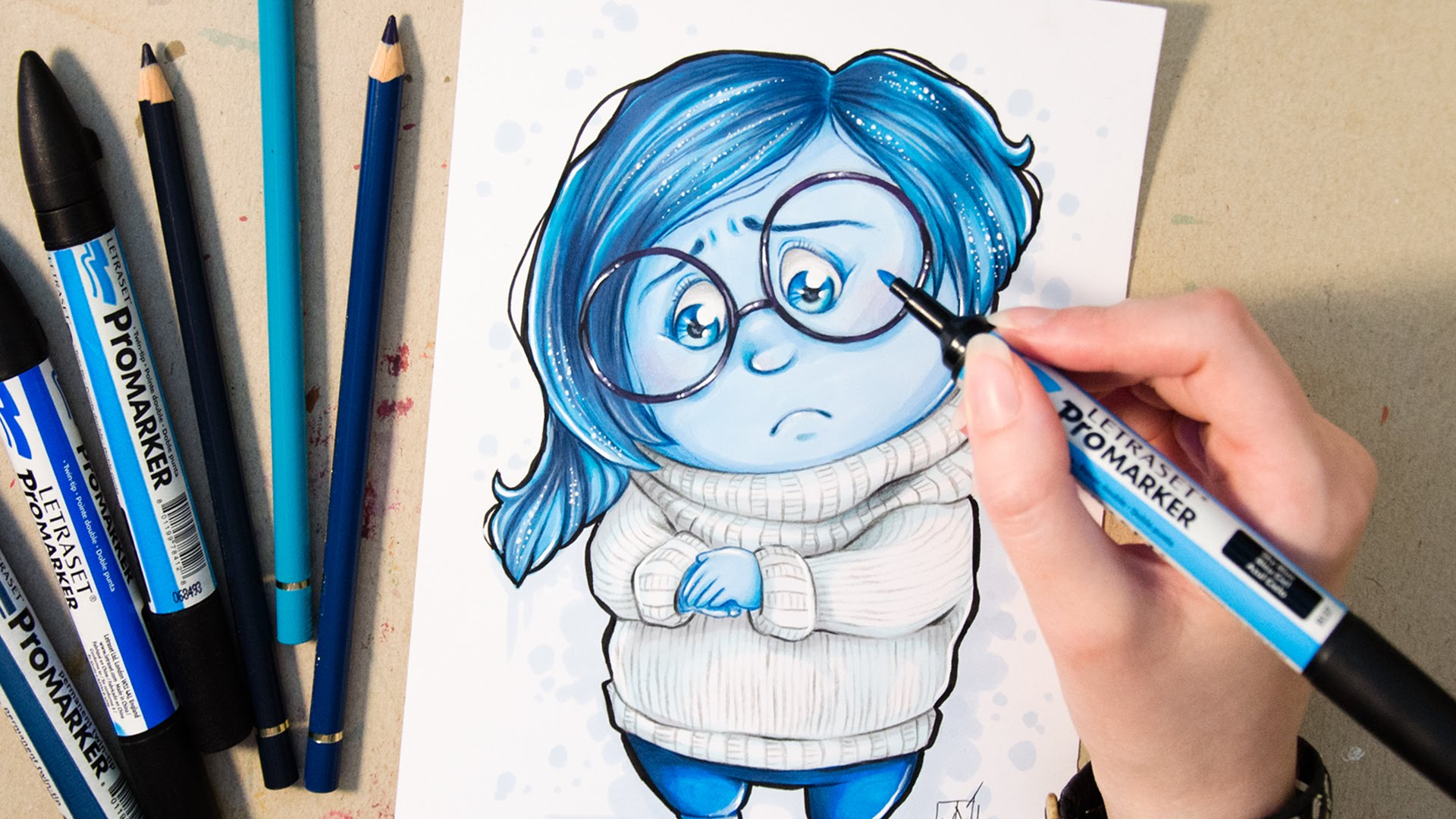 Disney Inside Out Coloring Pages Pdf : Sadness inside out drawing at getdrawings.com free for personal