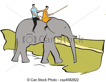450x349 Elephant Safari. Tourist Riding An Elephant Clip Art