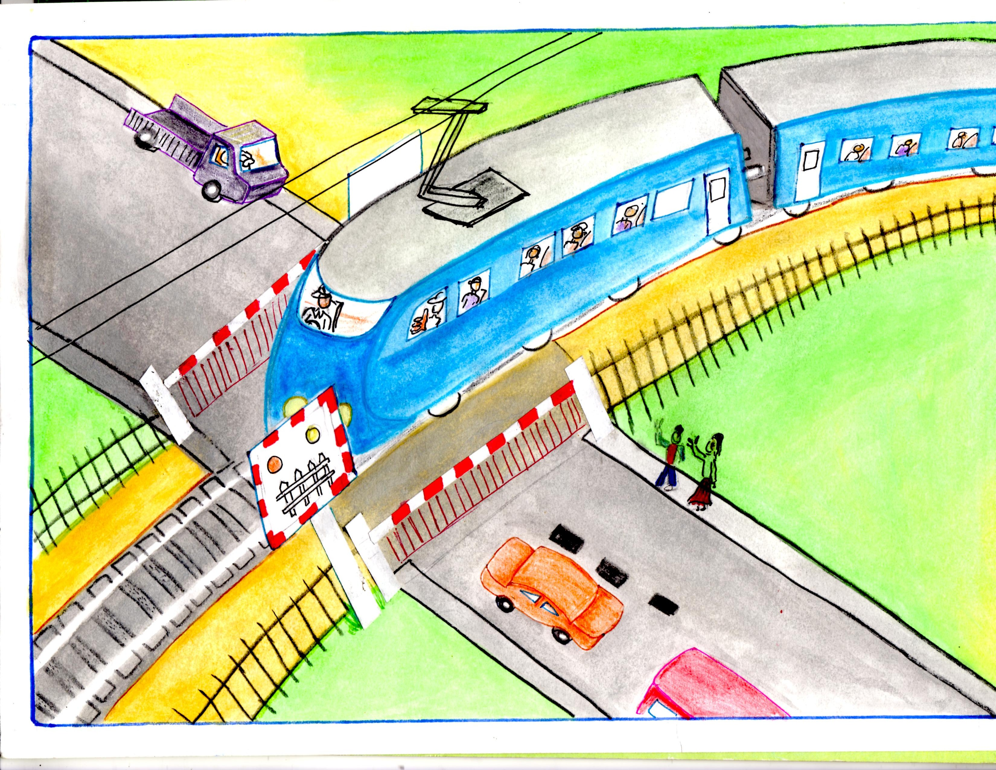 3300x2550 3rd Uicilcad Drawing Contest For Children On Level Crossing