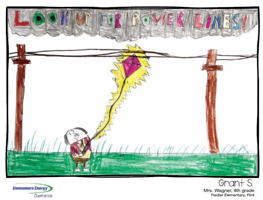 848x644 Michigan Children Create 2013 Safety Calendar Consumers Energy
