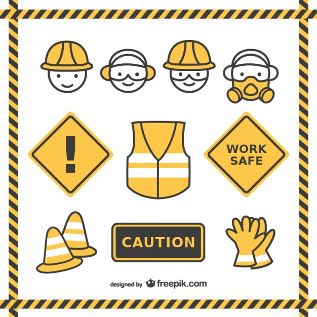 626x626 Safety Drawings Pack Vector Free Download