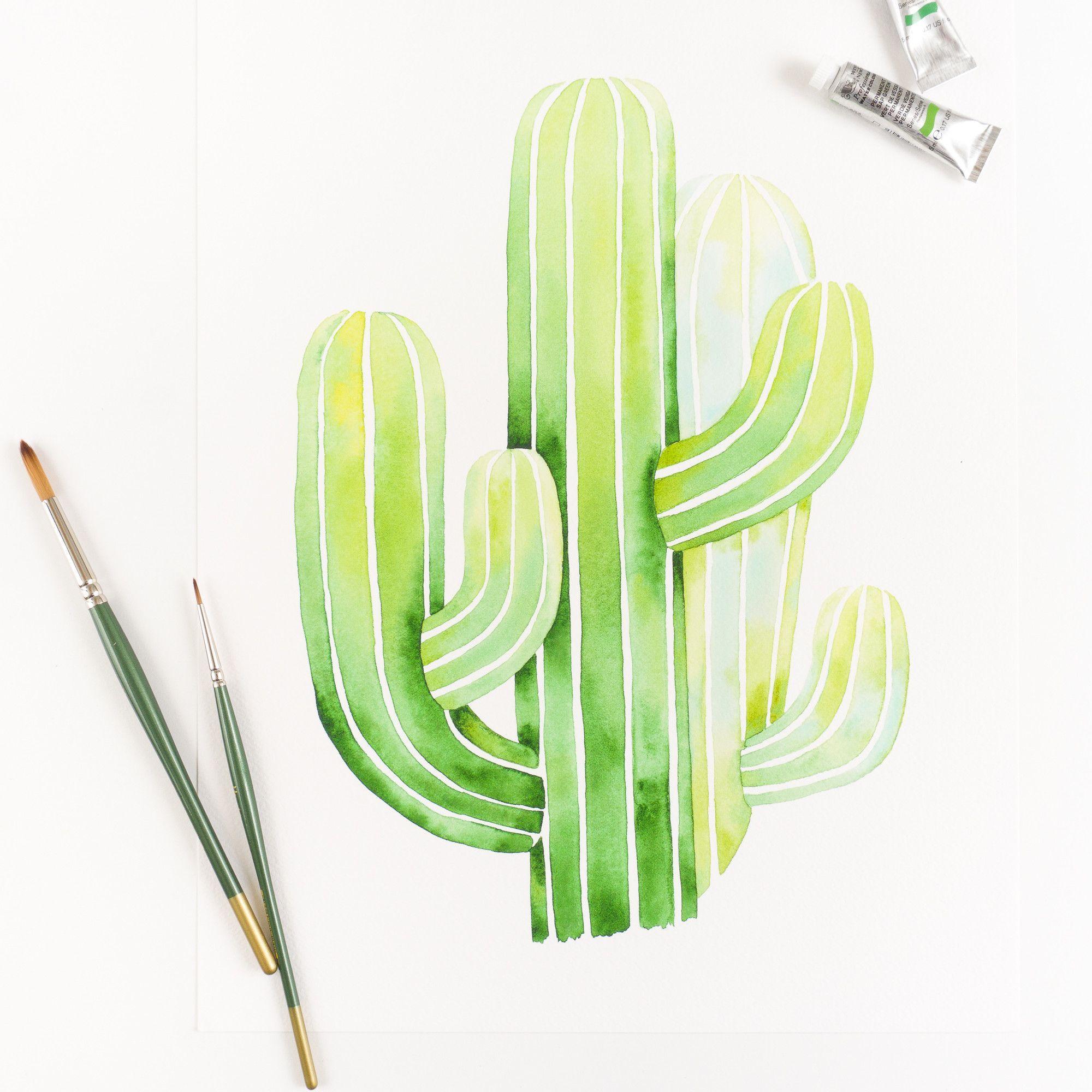 Saguaro Drawing at GetDrawings.com | Free for personal use Saguaro ...