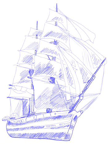 350x467 How To Draw A Sailing Ship