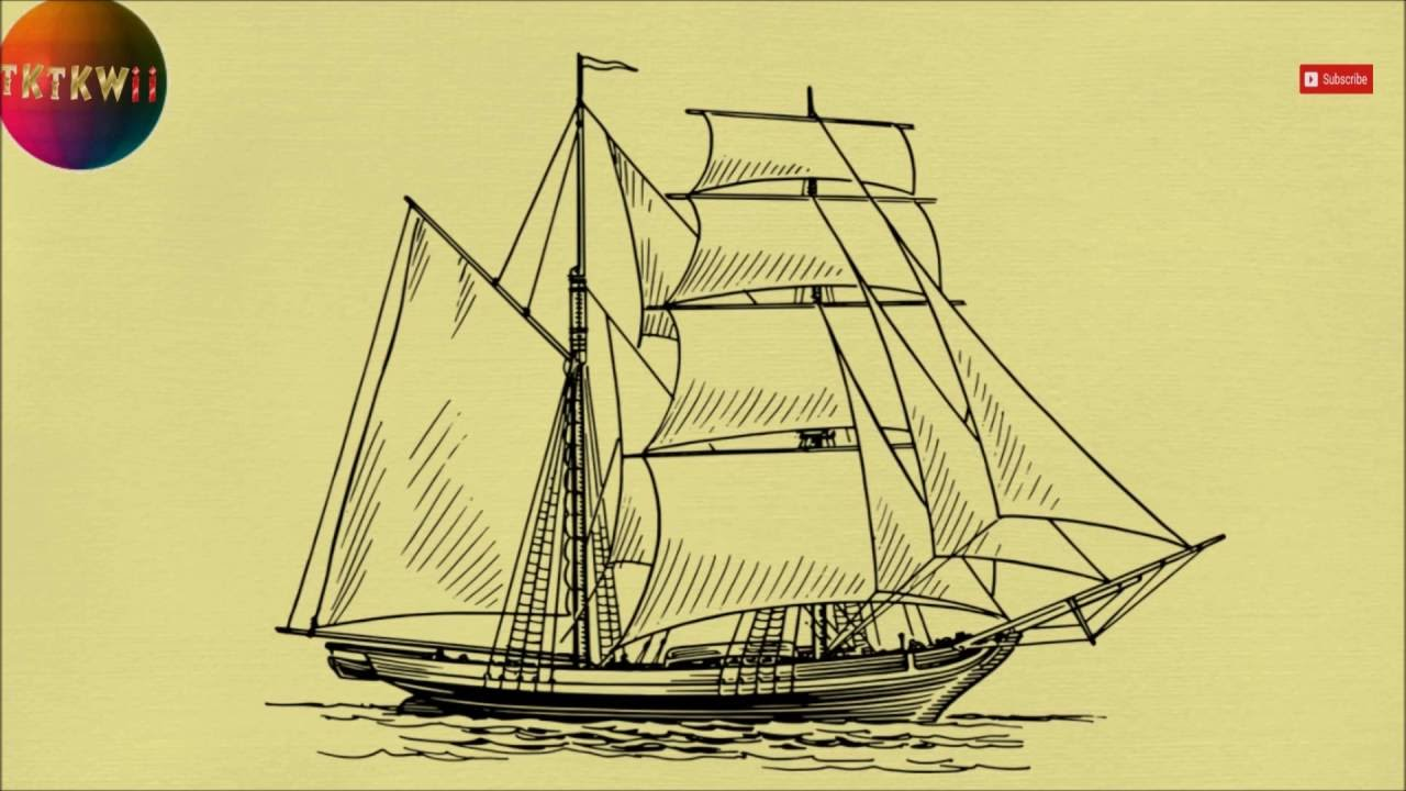 1280x720 How To Draw A Sailing Ship