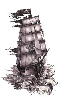 200x324 Pirate Ship Tattoo Drawing Images About Ship Tattoos