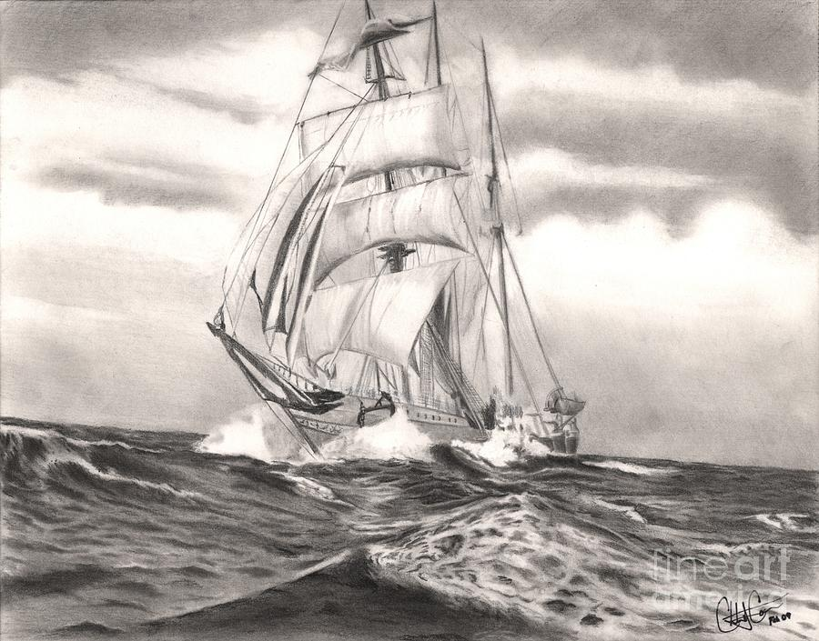 900x705 Sail Away Drawing By Christian Conner